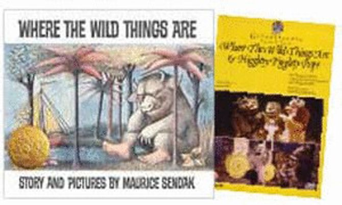 WHERE THE WILD THINGS ARE! Opera DVD & HB - Where the Wild Things Are & Higglety Pigglety Pop! DVD A collaboration of one of Britain's foremost composers, Oliver Knussen, with the vivid magical images of American artist and author, Maurice Sendak, evokes a very special form of theater--fantasy opera. Where the Wild Things Are book  by Maurice Sendak. Travel with Max to the country of the wild things and home again.