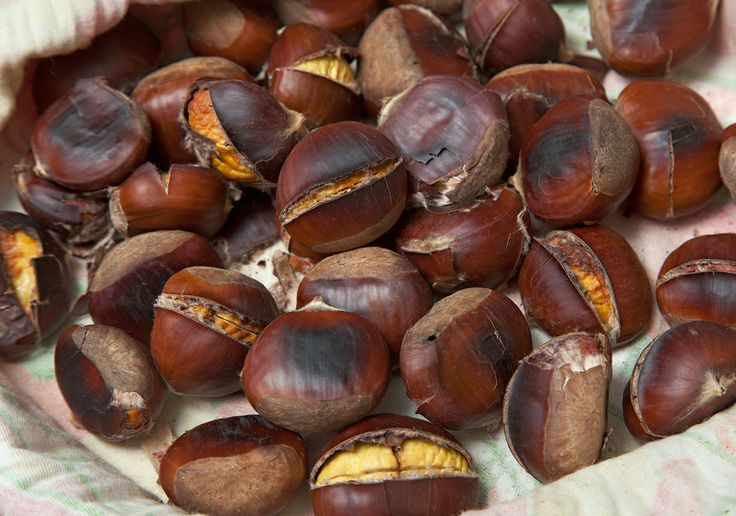 Roasting is one of the most popular ways of preparing chestnuts. When buying chestnuts for roasting, choose the big and undamaged ones. Ideal snack for cold autumn and winter days.