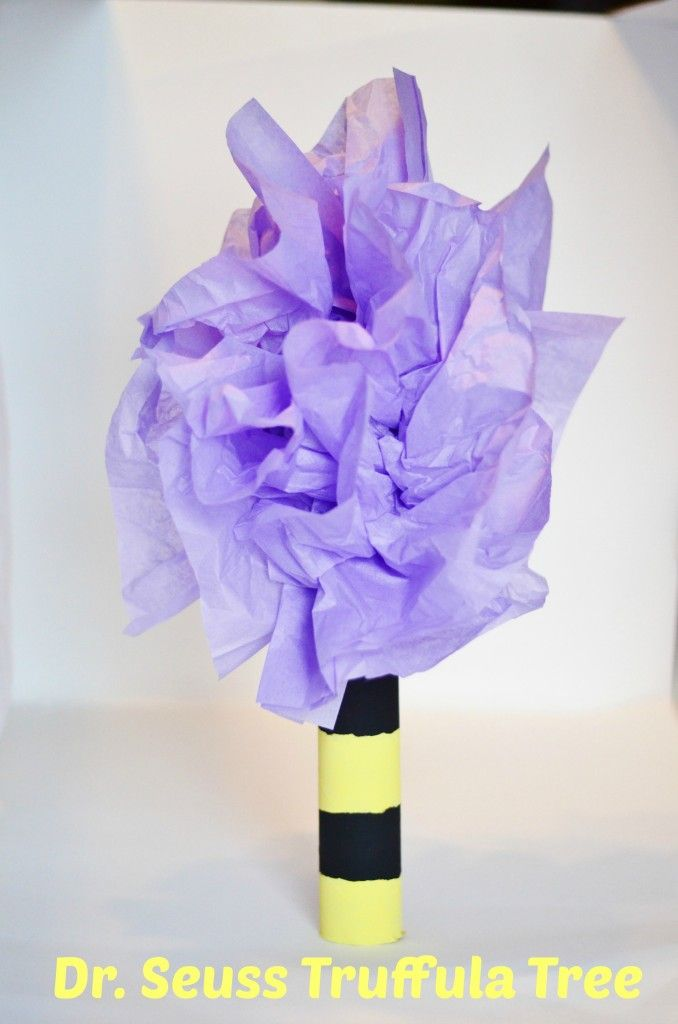 awesome Dr Seuss Lorax inspired Truffula Tree craft for kids - would be cute in the classroom at school