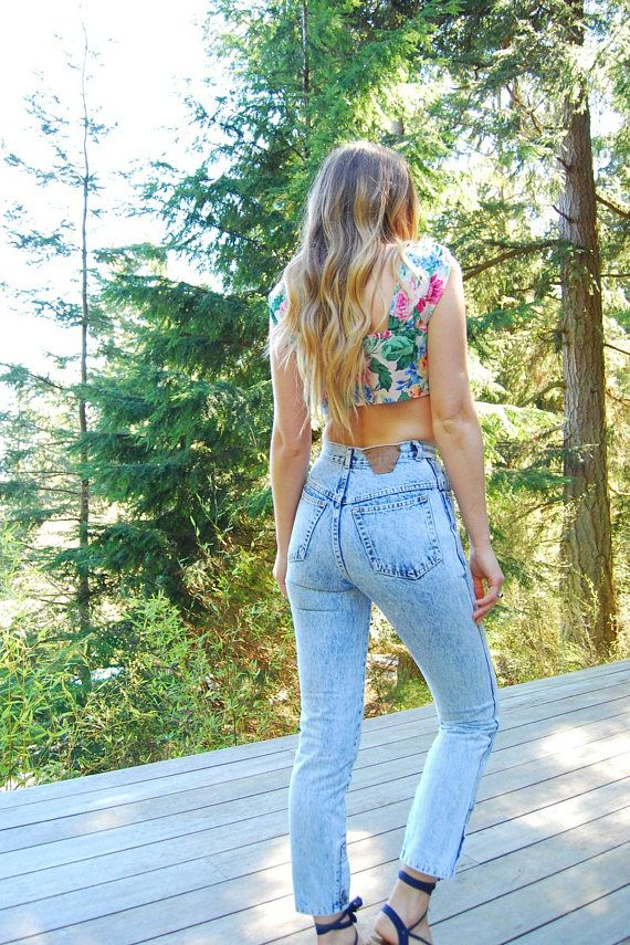 90s High Waisted Jeans, Women's 25 26 Waist Gitano Express Jeans, Vintage 80s Acid Wash Jeans, Tapered Mom Jeans, 90's Grunge Skinny Jeans,