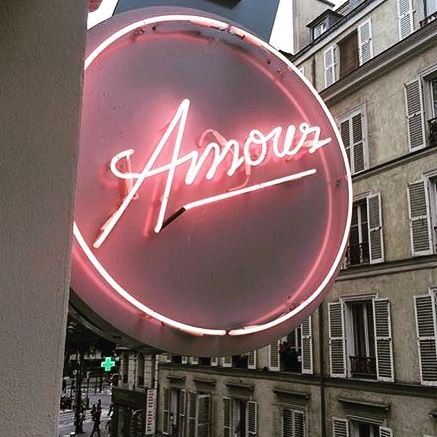 Neon sign -Amour