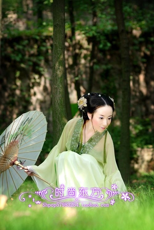 Aliexpress.com : Buy Costume tang suit hanfu women's clothes exquisite and elegant chiffon skirt green from Reliable Chinese Folk Dance suppliers on Angel department store