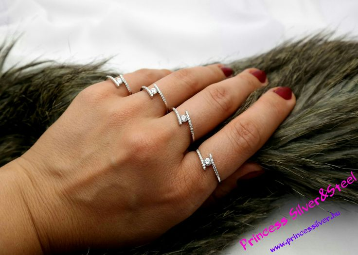 Ezüst gyűrűk, sok cirkónia kristállyal. 💖 www.princessilver.hu