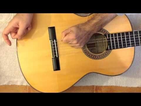 cgberenguer - cambiar cuerdas en guitarra clásica