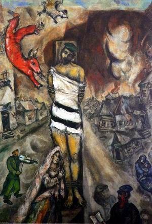 "Chagall,Pintor De Sonhos... ""O Martir"", 1985. A última pintura de Chagall."