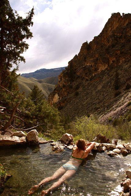 Nature's hot tub. #hiking #swim