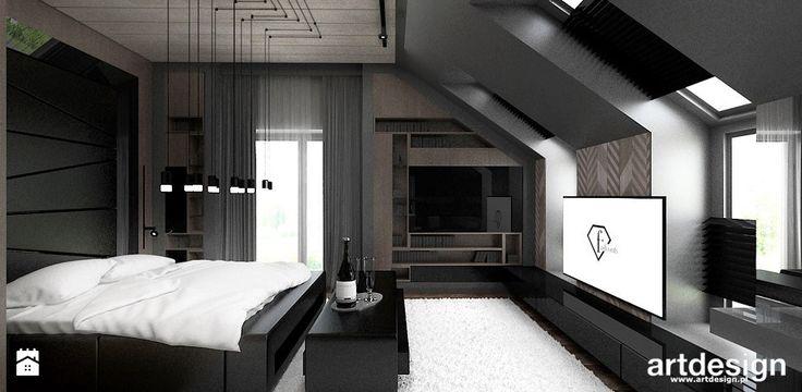 projekty wnętrz sypialni - zdjęcie od ARTDESIGN architektura wnętrz - Sypialnia - Styl Nowoczesny - ARTDESIGN architektura wnętrz