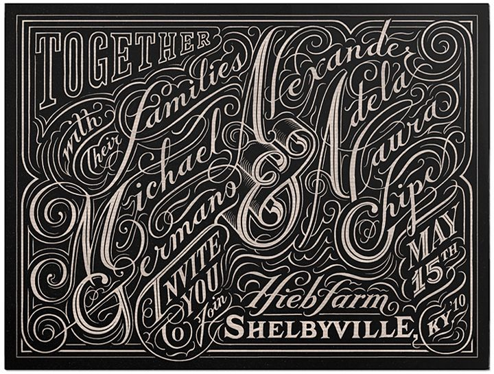 beautiful.: Vintage Types, Inspiration, Typo Design, Wedding Invitations, Hands Letters, Graphics, Typography, Hands Drawn, Alex O'Loughlin