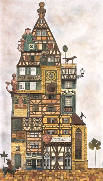 Esslingen (Surreal town collage) by Matthias Jung, 2008