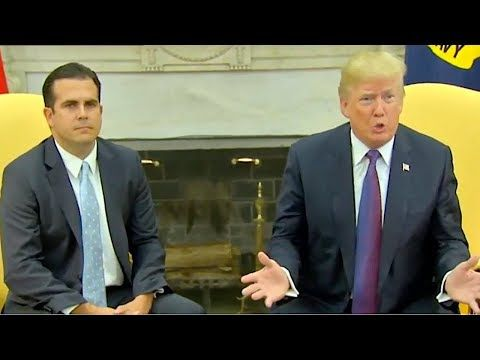 President Trump & Puerto Rico's Governor EXPOSE Fake News Narrative on Hurricane Response 10/19/17 - YouTube