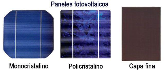 Tipos de paneles fotovoltaicos. Descubre las diferencias entre los paneles monocristalinos, policristalinos y de capa fina y cuál tipo se adapta mejor a tu caso.