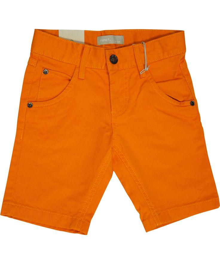 Name It bright summer orange long shorts. name-it.en.emilea.be