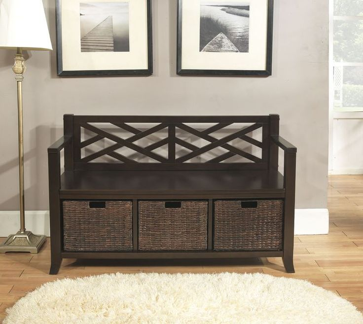 Elegant Small Entry Bench with Storage