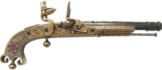 1760 American Revolutionary War Lexington Flintlock.  Beautiful detailing on the handle and barrel!!
