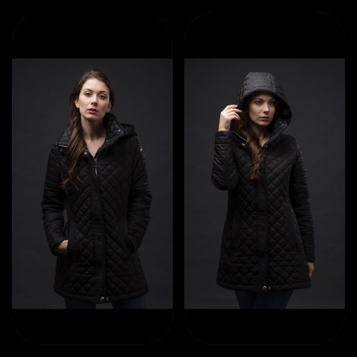 Black fall coat
