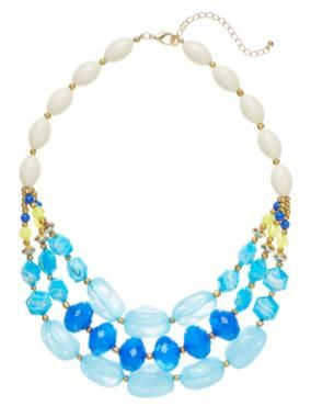 Sussan - Accessories - Necklaces - Blue triple layer necklace#relaxwithsussan