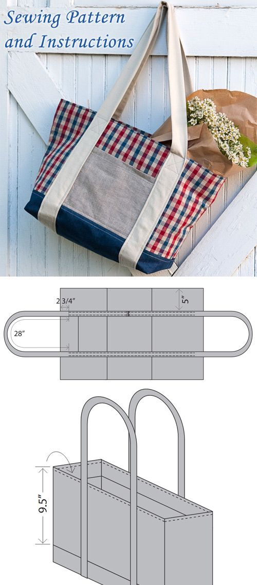 Farmers Market Tote Bag Tutorial