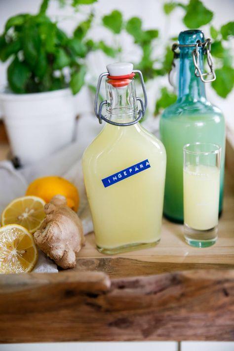Ingefärsshot, shot med ingefära, citron och honung <3 Perfekt för att hålla doktorn borta :)