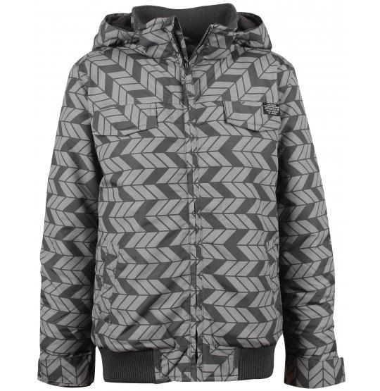 Grijze jas met allover print - Jassen - Kleding - 7 - 14 jaar - Jongens