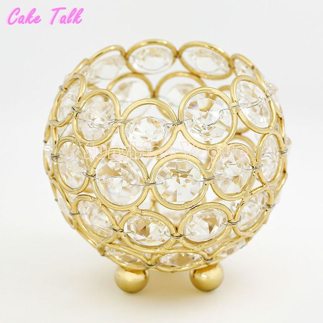 Castiçais de casamento de ouro/prata cristal tigela de vidro 8*9 cm tealight suporte de vela decoração de casa barra de chocolate patry fornecedor