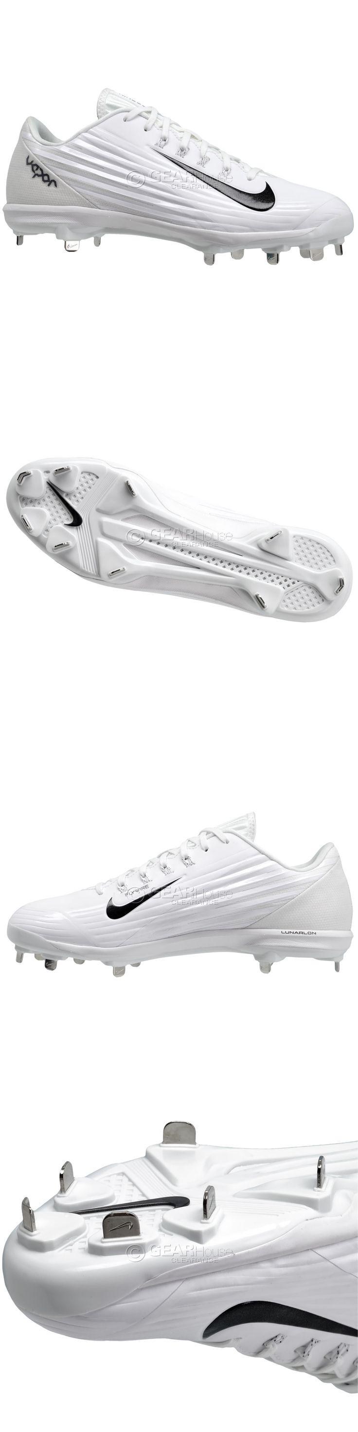 Mens 159059: New Nike Lunar Vapor Pro Low Metal Mens Baseball Cleats :  White -
