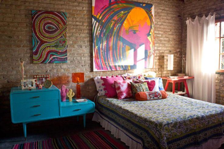 Muito amor nesta decor de uma casa Argentina. Clique na imagem para ver mais no blog Manga com Pimenta.