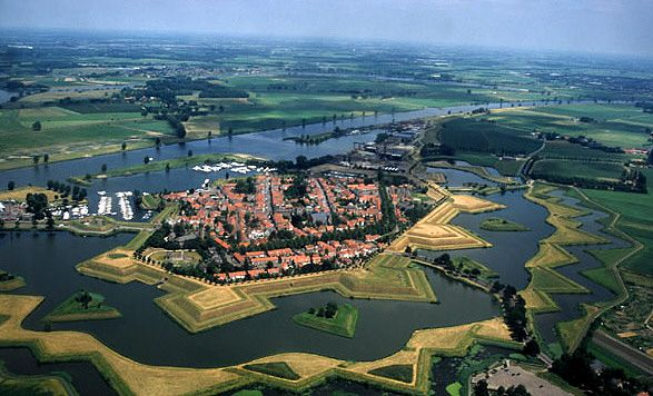 Vestingstad Heusden in Noord-Brabant.