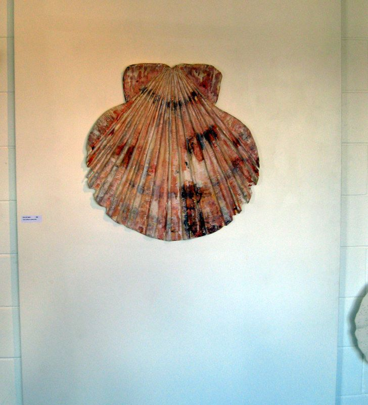Carved Scallop shell by www.lizmcauliffe.com