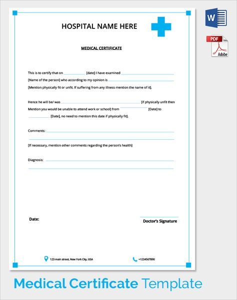 Medical Certificate Template Sample Medical Certificate Download Documents Pdf Word From Doctor .
