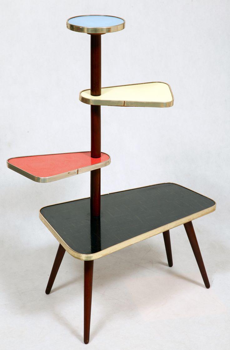 kwietnik, stolik, lata 60.