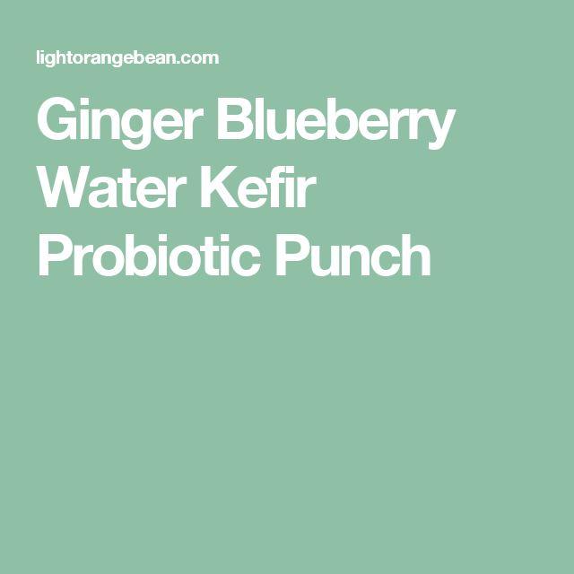 Ginger Blueberry Water Kefir Probiotic Punch
