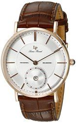 Lucien Piccard Men's LP-40003-RG-02S-BRW Taverna Rose Gold Ion-Plated Stainless Steel Watch