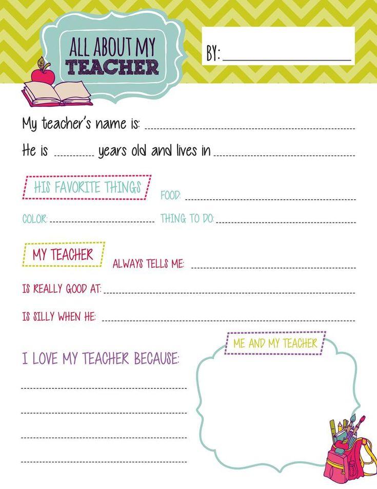 All About My Teacher Questionnaire Printables Teacher Etsy In 2021 Preschool Teacher Appreciation Teacher Appreciation Printables Teacher Questionnaire All about me questionnaire preschool