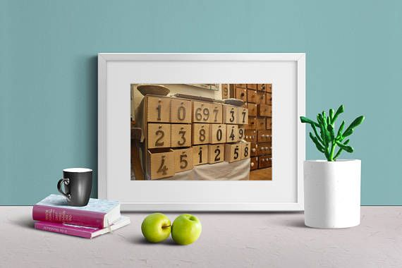 Wooden Drawers with Numbers Drawers with Number Decoration