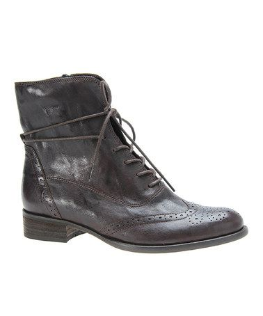Moro Tucson Leather Oxford Boot by Gabor #zulily #zulilyfinds