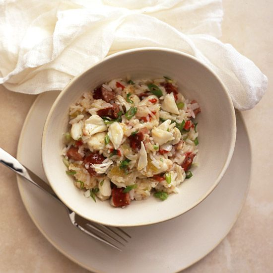 Crab and Andouille Jambalaya // More Fabulous Cajun and Creole Recipes: http://www.foodandwine.com/slideshows/cajun-and-creole #foodandwine