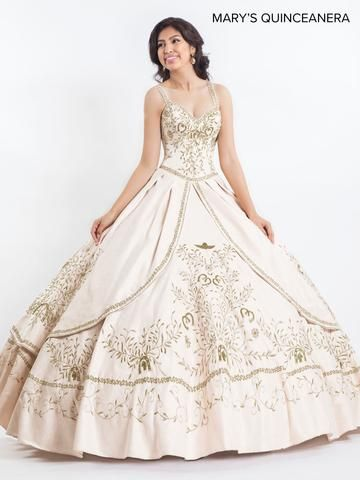 9694ff7238ee Embroidered Charro Quinceanera Dress by Mary's Bridal M4Q2022 in ...