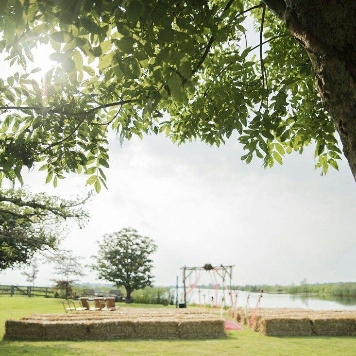 Weddingceremony setting. Landscape