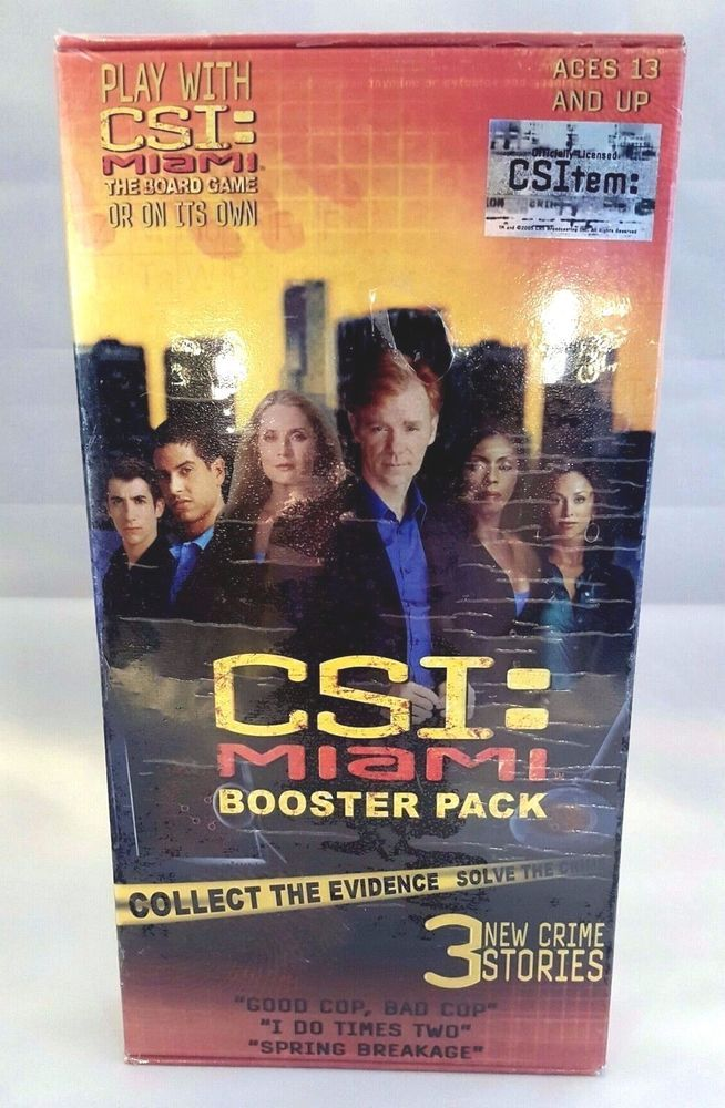 CSI Miami Game Booster Pack New Factory Sealed 3 New Crime Stories