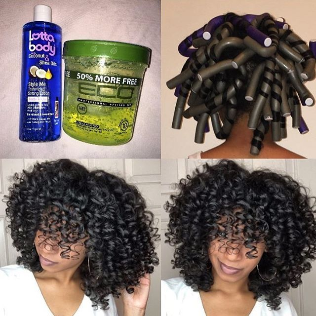 HAIRSPIRATION| Flexi rod perfection on @thelovelygrace Those curls are popping➰➰➰ #voiceofhair