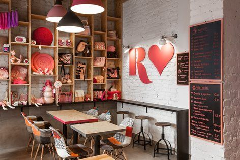 """We have dreamed about the pinkest and most positive and open place in the world. COME CHECK IT OUT"" This incredibly innovative idea of combining a shop with a café is defned by an even more innovative and brave..."