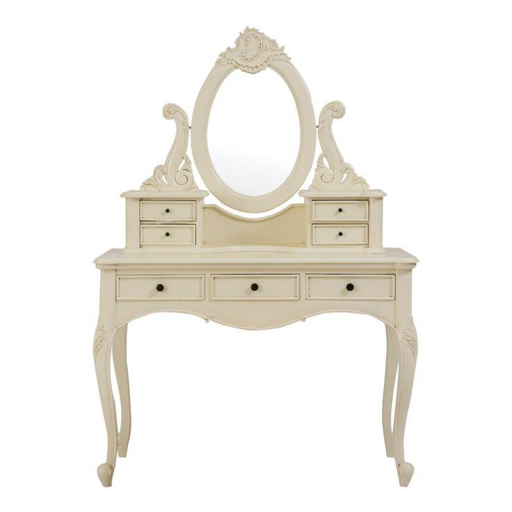 Antoinette Parisienne Cream Dressing Table & Stool