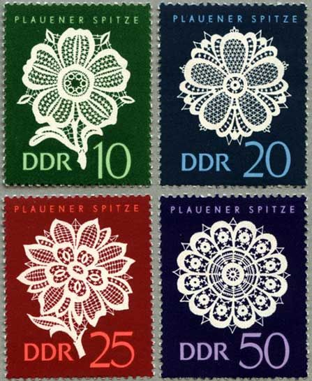 DDR  1966 flower illustration postage stamps #collectibles #mail