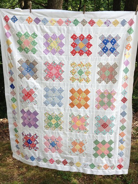 30's Granny Squares quilt by zzbstl, via Flickr