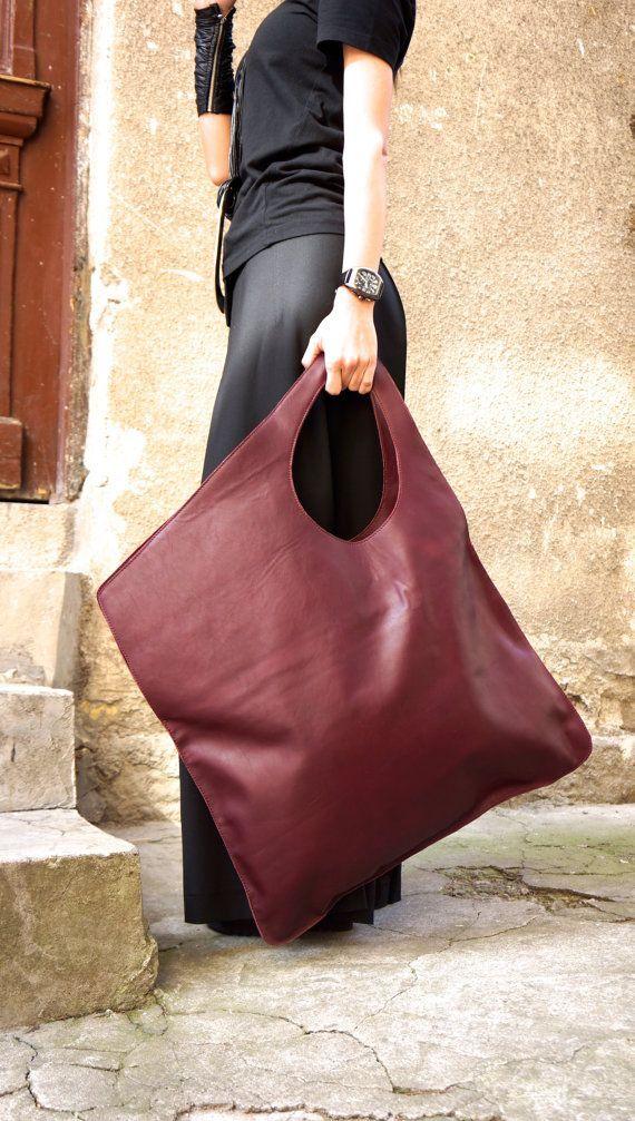 NEW Genuine Leather Black BackPack / High Quality asymmetrycal zipper Bag by AAKASHA A14413