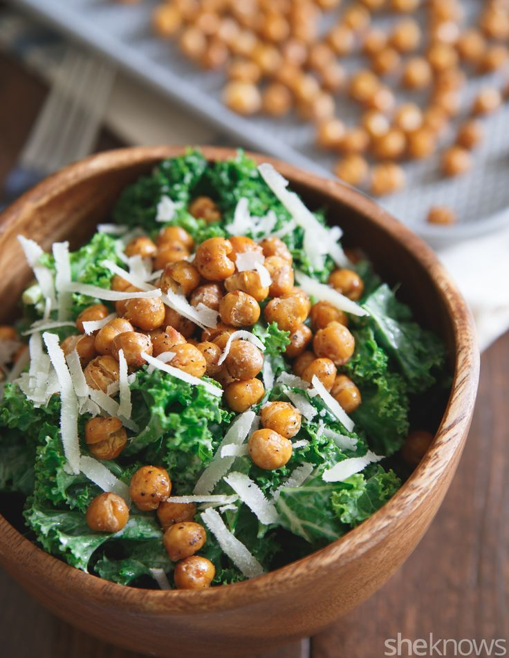 Swap the traditional romaine for kale in this superfood Caesar salad recipe