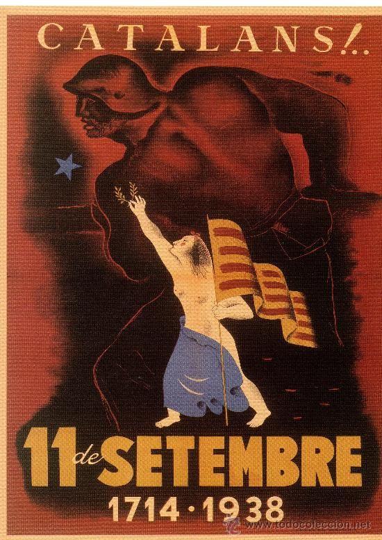 CARTELL CATALÀ GUERRA CIVIL. CATALANS!..11 DE SETEMBRE 1714·1938. CLAVÉ, 1938.