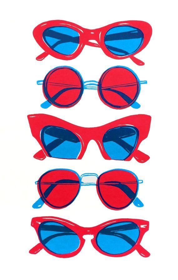 Glasses Screen Print
