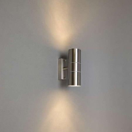 Buitenlamp Duo staal