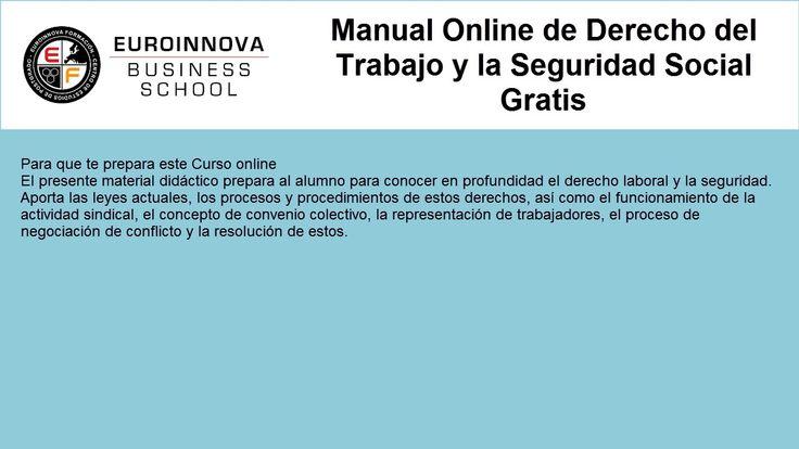 curso derecho laboral gratis - https://www.euroinnova.edu.es/Curso-Derecho-Trabajo-Seguridad-Social